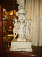 103. Антикварные Часы из мрамора. 19 век. 38x26x74 см. Цена 15000 евро
