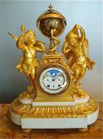 105. Антикварные Каминные часы. 19 век.