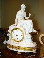 107. Антикварные Каминные часы. 19 век.