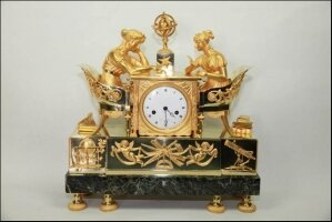 10. Антикварные Каминные часы. Ампир. 1810 год.
