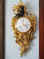 110. Антикварные Настенные часы-картель. 19 век. 80x38 см. Цена 8000 евро