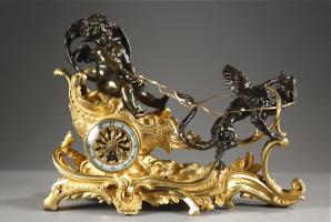 18. Антикварные Часы. 1850 год. 36x16x26 см. Цена 11000 евро.