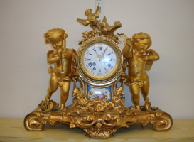 90. Антикварные Часы. Франция. 1860 год. 42х51х18 см. 2800 евро