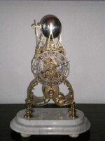 Антикварные Часы скелетон со стеклянным колпаком. Англия. 1850 год. Высота 45 см. Цена 2600 евро