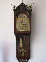 Антикварные Настенные часы с календарем и лунными фазами. 1750 г. Амстердам. Мастер - Gerrit Storm. Цена 9200 евро