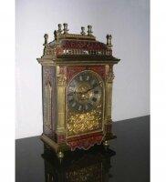 Антикварные Настольные часы. Черепаховый панцирь. Инкрустация серебром и бронзой. 1850 г. 48 см. Цена 4300 евро