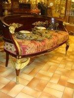 58. Антикварный Диванчик. Ампир. Около 1820 г. 140x65x82 см. Цена 6500 евро