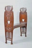 Антикварная Резная скамейка без спинки. 1900 г. Цена 900 евро