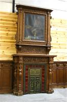 29. Антикварный Каминный портал с картиной. 19 век.