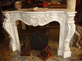 47. Антикварный Каминный портал. XIX век. 170x36x110 см.