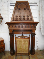 43. Антикварный Портал для камина. Около 1850 г. 158x295x50 см.