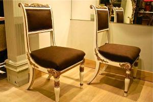 24. Пара антикварных стульев. 1800 год.