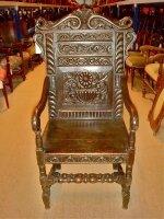 33. Антикварное Кресло. Около 1800 года. 57x46x125 см.
