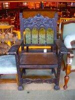34. Кресло антикварное. Около 1830 года. 75x50x115 см.