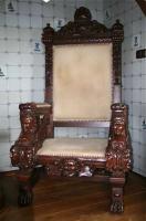 61. Антикварное Кресло-трон. Около 1930 года. 170х90х78 см. Цена 2500 евро