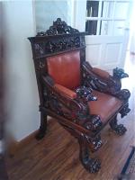 59. Антикварное Резное кресло. Около 1900 г. Цена 2000 евро