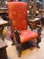 7. Кресло антикварное. 19 век. 90x70x145 см. Цена 2500 евро.