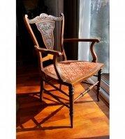 64. Английское Викторианское антикварное резное кресло. 1880 год. Цена 1500 евро