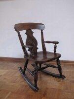 Детское антикварное кресло-качалка. 19 век. Англия. Высота 70 см.