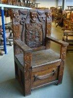 Антикварное Кресло. Около 1800 г. 69x53x122 см. Цена 1900 евро
