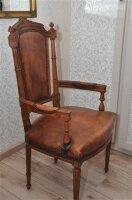 66. Антикварное Резное кресло. Обивка овечья кожа. 115x60x50 см. Цена 1200 евро