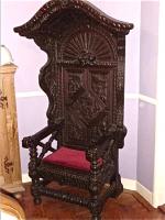 151. Антикварное Кресло-трон. 17 век.