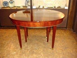 153. Антикварный Круглый раскладной стол. Ампир. Около 1850 г.