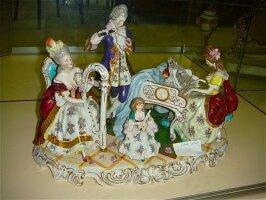 159. Антикварная фарфоровая скульптура Музыкальная группа. Германия. 1920 год.