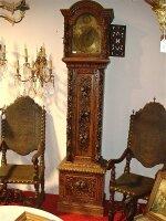 163. Антикварные деревянные Напольные часы. Около 1830 г. 237х56х36 см. Цена 5300 евро.