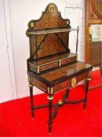 192. Антикварный Раскладной столик Буль. 19 век. 159x79x45 см. Цена 2900 евро.