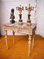 201. Антикварный Резной столик 19 век. 103x98x62 см. Цена 2900 евро.
