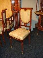 203. Салон - комплект антикварной мебели для гостинной: зеркало, диван, 2 кресла, 4 стула. Около 1900 г. Цена 10000 евро.