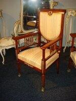 205. Салон - комплект антикварной мебели для гостинной: зеркало, диван, 2 кресла, 4 стула. Около 1900 г. Цена 10000 евро (N4).