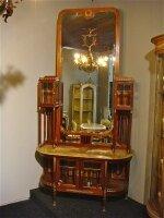 207. Салон - комплект антикварной мебели для гостинной: зеркало, диван, 2 кресла, 4 стула. Около 1900 г. Цена 10000 евро.