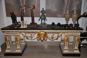 215. Антикварный Стол с мраморной столешницей. Около 1820 г. 95x258x91 см.
