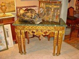 216. Антикварный Стол с мраморной столешницей. 19 век. 118x86x65 см. 5000 евро.
