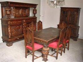 217. Антикварная Столовая - комплект антикварной резной мебели для столовой 19 век.