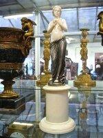 223. Антикварная Фигурка 19 век. Кость, серебро.