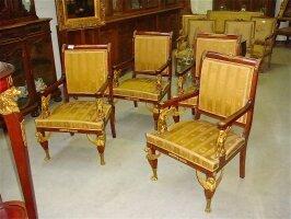 229. Четыре антикварных кресла. Ампир. 1870 год.
