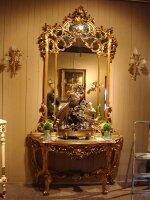 242. Антикварное Зеркало с консолью. Около 1880 г. Цена 5900 евро.