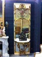 243. Антикварное Зеркало с консолью. 19 век.