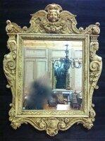 248. Антикварное Зеркало в резной раме. 19 век. 160x110 см.