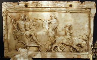 251. Антикварный Барельеф. Мрамор. Италия. 19 век. 120х74 см. Цена 15000 евро