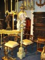 258. Ваза (78 см.) с постаментом (200 см). Бронза, фарфор, мрамор19 век. Цена 4500 евро