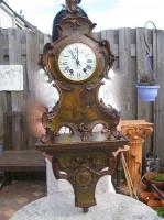313. Антикварные Часы с консолью. 19 век. 85х30х18 см. 3000 евро