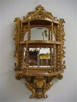 327. Антикварная Настенная консолька с зеркалом. 19 век. 75x32x135 см. Цена 4500 евро