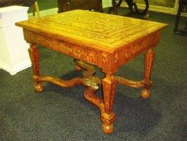 336. Антикварный Стол с маркетри. Около 1820 г. 112x76x83 см. 6000 евро