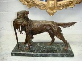 337. Антикварная Фигурка из бронзы. 19 век. 40x15x30 см. Цена 1500 евро