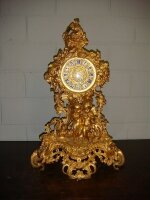 3. Антикварные Каминные часы. 19 век. Цена 5500 евро.