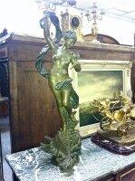 71. Антикварная Бронзовая подписная скульптура. 19 век. Высота: 94 см. Цена 7900 евро.